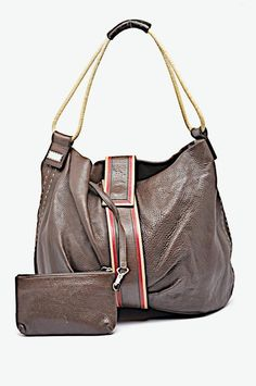 Gianfranco Ferre Satchel in GIANFRANCO FERRE Brown Leather Shoulder Tote w   Red Tan Trim 1f71fb34f400b