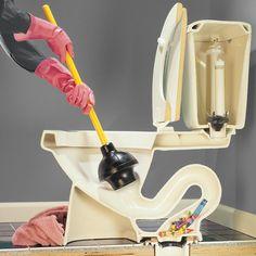 How to Unclog a Toilet Leaking Toilet, Toilet Drain, New Toilet, Flush Toilet, Toilet Bowl, How To Unclog Toilet, Toilet Repair, Clogged Sink Bathroom, Bathroom Plumbing