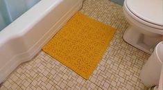 Granny Square Bathroom Rug by Rebecca Mathes