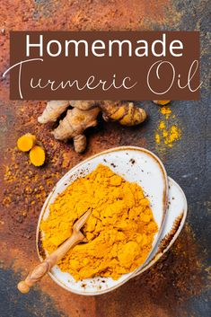 Turmeric root oil has many uses and is good for just about every skin related issue. We use it in our Spot Treatment recipe and in our Detox Masque recipe. This homemade turmeric oil recipe works great for healing inflammation on your face or skin.  Shelf Life: 6 months  Benefits: Turmeric root oil helps to calm, soothe, and heal inflammation such as acne, rashes, and even wounds. It also helps to reduce blackheads and scarring on the skin. Turmeric For Skin, Turmeric Paste, Turmeric Oil, Green Living Tips, Oil Recipe, Food Words, Spot Treatment, Shelf Life, Beauty Recipe