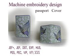 Machine embroidery designs.  Passport cover In by ImilovaCreations