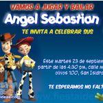 Invitaciones de cumpleaños de Woody de Toy Story Gratis