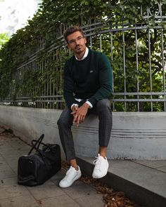 """93106def55ef Justus Frederic Hansen on Instagram  """"There are only few outfits that are  as made for autumn as the classic combination of sneakers"""