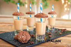 Chocolate Caramel Cookie Cocktail Shooters
