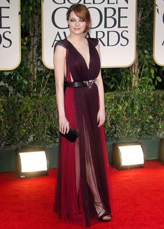 Emma Stone in Lanvin - Golden Globe Awards 2012. She's my original inspiration to go back to red.