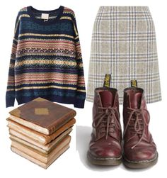 """Reading in style"" by ash555 ❤ liked on Polyvore"