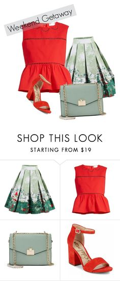 """""""Weekend Upnorth"""" by graciemgrady on Polyvore featuring RED Valentino, Jennifer Lopez and Sam Edelman"""