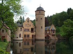 Mespelbrunn Castle in the Spessart, Germany