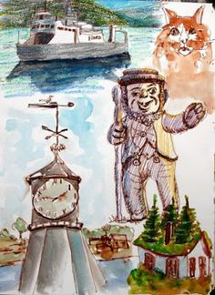 """Sketches for """"Visit Norway"""" Poster"""
