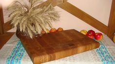 Large wooden cutting board by SteelWoodStoneSWS on Etsy