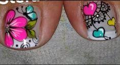 Toe Nail Art, Toe Nails, Akira, Nail Art Designs, Manicure, Tattoos, Flower Nails, Flower Nails, Work Nails