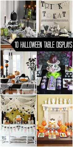 10 Halloween Table Displays to inspire your own Halloween table decor on { lilluna.com }