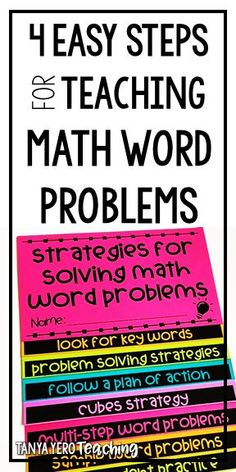 Learn how to teach word problems during your math instruction that is meaningful for students. Teach your students strategies for effectively solving word problems that will prepare them for state testing. Fraction Word Problems, Math Word Problems, The Words, 4th Grade Math, Math Math, Math Fractions, Math Strategies, Math Tips, Problem Based Learning