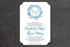 Forest Wreath Wedding Invitations