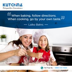 What are you best at - cooking or baking? #Kutchina #ModernKitchen #DesignedForConvenience #HappyKitchen #HappyHome #KitchenLove #GetKutchified #HeartOfAHome