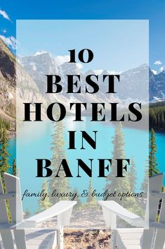 10 Best Hotels in Banff [Luxury & Budget Options!] If you are headed to Canada, you have to check out our list of the Best Banff Hotels. We've broken them into three categories; family, luxury, and budget. Best Ski Resorts, Best Vacations, Hotels And Resorts, Best Hotels, Unique Hotels, Cheap Hotels, Banff Hotels, Rimrock Resort