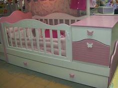 Cuna Funcional Con Bajocajon - $ 6.800,00 Kids Bedroom Furniture, Baby Furniture, Fairy Theme Room, Baby Room Decor, Living Room Decor, Enclosed Bed, Kids Corner, Bedroom Sets, Girl Room
