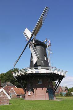 Flour mill, De Eendracht, Gieterveen, the Netherlands.