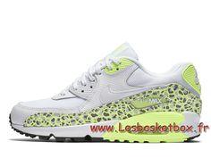 best loved e21eb 0f355 Nike WMNS Air Max 90 Premium Lime Green Animal 443817 103 Chausport  Officiel Nike Pour Femme