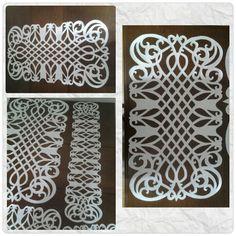 Deri Kesme Salon Takimi Cut Work, Animal Print Rug, Hand Sewing, Table Clothes, Lazer Cut, Papel Picado, Paper Art, Stenciling, Salons
