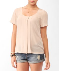 Box Pleated Top - Forever 21 (Product Code: 2000042966)  £18.75. (Back view is here: http://pinterest.com/pin/154318724702110701/)