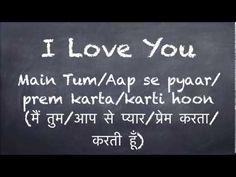 "SPEAK :: Learn to say ""I Love You"" in Hindi."