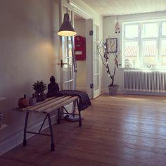 Danish home. Old wash bench. Scandinavian home decor