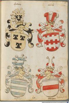 Tirol, Anton: Wappenbuch Süddeutschland, Ende 15. Jh. - 1540 Cod.icon. 310  Folio 14r