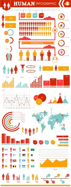 Infographic elements by Adina Neculae, via Behance Information Design, Information Graphics, Infographic Templates, People Infographic, Infographic Examples, Create Infographics, Resume Templates, Graphic Design Inspiration, Info Graphic Design