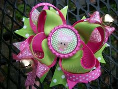 This boutique style bow can be purchased as pictured or can be customized. Please send a message for changes (larger, different colors, etc.).  *high quality grosgrain ribbon *approximately 4 inch acr