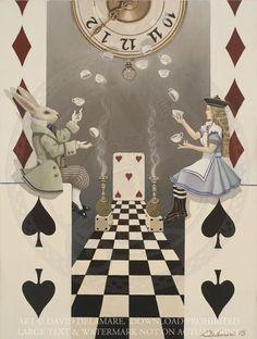 Playing Card Art #4: Alice in Wonderland Giclée Print by David Delamare | Art, Art Prints | eBay!