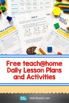 We're Loving These Free teach Daily Lesson Plans and Activities. With these teach resources, you'll be set with 12 weeks of lesson plans and activities for math, literacy, and STEM. Daily Lesson Plan, Lesson Plans, Science Experiments Kids, Science Activities, Teaching First Grade, Teaching Math, Math Teacher, Math Literacy, School Lessons