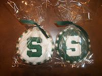 Tammy is a new customer who was invited to a party honoring a high school student that just committed to rowing for Michigan State Univer. Grad Parties, Birthday Parties, Cookie Decorating, Decorating Ideas, Graduation Desserts, Michigan State Spartans, Cookie Crumbs, Cookie Ideas, Decorated Cookies