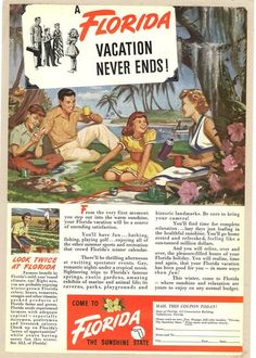 1949 Florida ad... watch out for alligators?