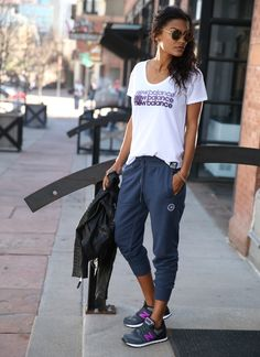 [Essentials Plus Tee, Sweatpant, 574]. Kick back after work or after your workout. All week long.