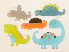 Dinosaur Fabric Iron On Appliques G by TwoCraftyKids on Etsy