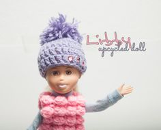Upcycled doll Libby handmade custom doll OOAK by Theordinarydiary Geek Squad, Custom Dolls, Ooak Dolls, Diy And Crafts, Upcycle, Etsy Seller, Winter Hats, Crochet Hats, Trending Outfits