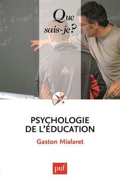 """370.15 MIA - Psychologie de l'éducation / G. Mialaret. """"La psychologie de l'éducation est la discipline scientifique qui observe, analyse et cherche à expliquer tous les aspects psychologiques des situations d'éducation ; elle met en évidence les relations qui constituent ces situations. Son champ d'étude - très large - comprend toutes les facettes de l'éducation, qu'il s'agisse des problèmes posés par l'entrée à l'école ou de ceux soulevés par la formation continue des adultes""""."""