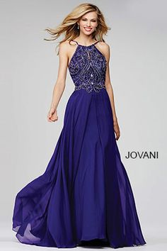 Look regal in royal purple #Jovani 92605