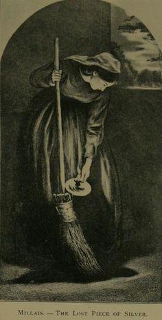Parable of the Lost Coin - Gospel harmony - The Lost Coin John Everett Millais - Heldinnen van de Bijbel in de Kunst.
