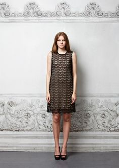 Bronte – Scallop Lace Dress Black  This gorgeous French scallop lace dress is the ultimate stand out piece for chic alluring evening dressing. Wear it over the Billie slip in nude for a sophisticated sexy look.