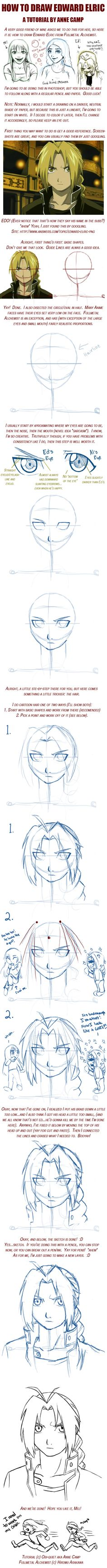 Edward Elric Tutorial by Obi-quiet on DeviantArt