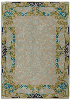 Wonderful, elegant Art Nouveau that characterized the stained glass work of Louis Comfort Tiffany - comes in a rectangular and runner format.