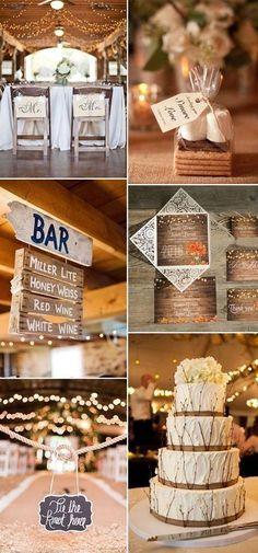 barn rustic wedding ideas with string lights