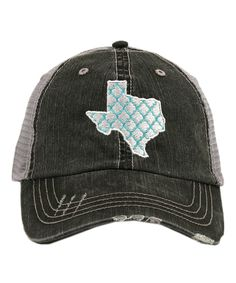 Look what I found on #zulily! Katydid Collection Gray & White Lattice Texas Trucker Hat by Katydid Collection #zulilyfinds