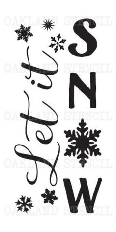 Details about Winter/Christmas STENCIL**Let it Snow**Four sizes for Signs Fabric Wood Canvas Christmas Stencils, Christmas Vinyl, Christmas Canvas, Diy Christmas Tree, Christmas Balls, Winter Christmas, Christmas Wreaths, Christmas Decorations, Christmas Wall Art