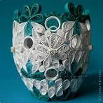 paper flowers, folding paper: Quilling cup and plate - Quilling paper Paper Quilling Patterns, Quilling Jewelry, Quilling Craft, Quilling Designs, Quilling Ideas, Paper Quilling For Beginners, Rolled Paper Art, Quilled Creations, Paper Crafts