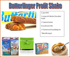 Holy Crap!  Tastes just like a Butterfinger Shake!!!!  I substituted my own protein powder & it is so yum yum
