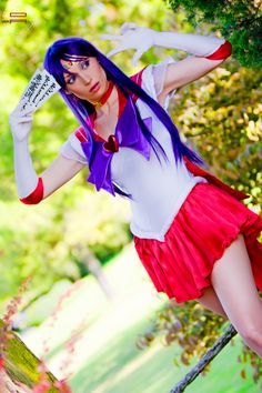 Character: Sailor Mars. Anime: Sailor Moon. Cosplayer: Giorgia Vecchini. Event: Lucca Comics Spring Edition 1997.Photographer: Demis Albertacci 2012.