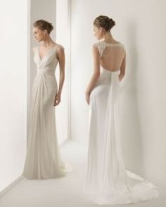 Une robe de mariée style grec empire